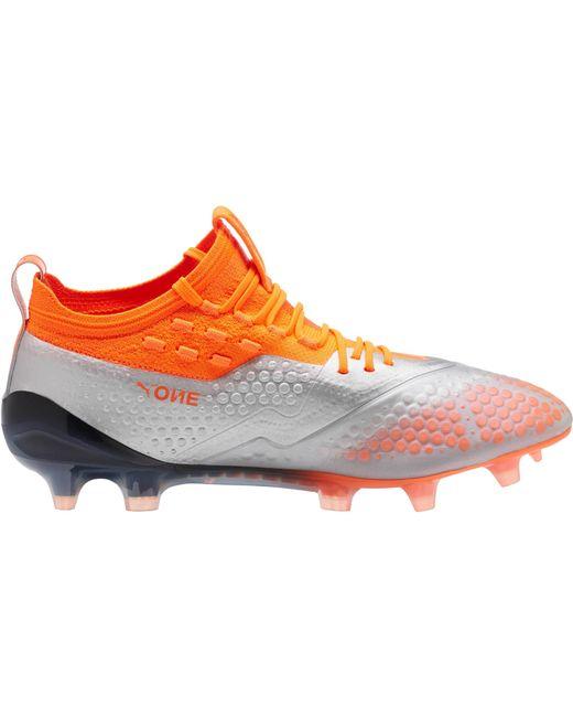 053dba26e5d7 ... PUMA - Orange One 1 Lth Mx Sg Footbal Shoes for Men - Lyst ...