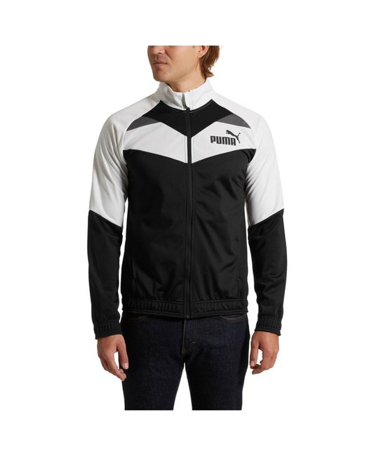 9823281a5bd4 Lyst - PUMA Iconic Tricot Jacket in Black for Men - Save 43%