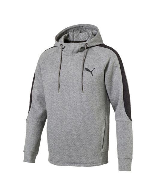 PUMA | Gray Evostripe Dryvent Hoodie for Men | Lyst