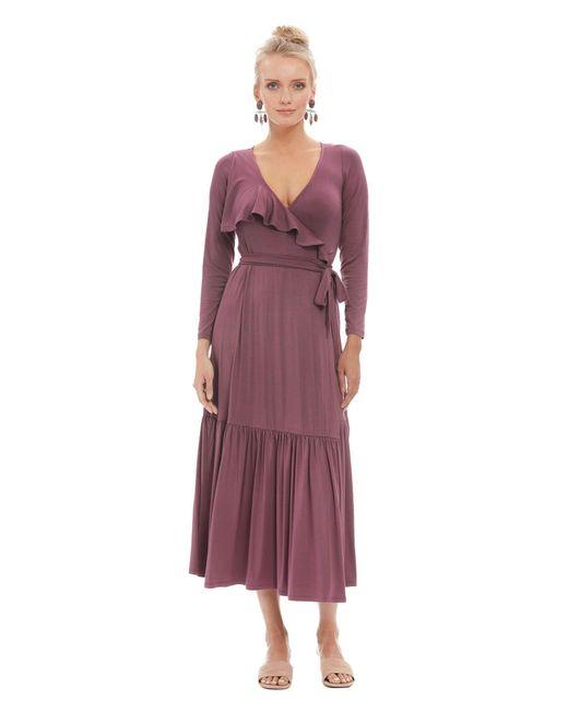 Rachel Pally - Purple Nadine Wrap Dress - Cameo - Lyst