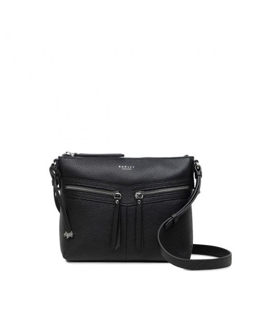 d4c4186880acbc Radley - Black Smith Street Medium Zip-top Cross Body Bag - Lyst ...