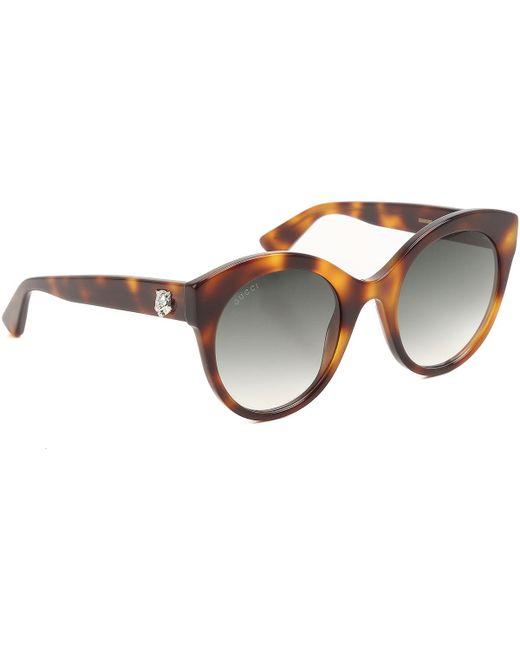 Gucci - Brown Sunglasses - Lyst
