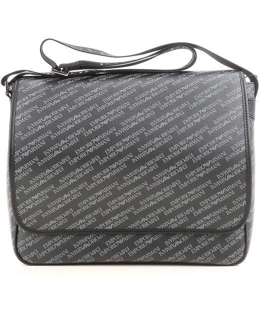Emporio Armani - Gray Bags For Men for Men - Lyst