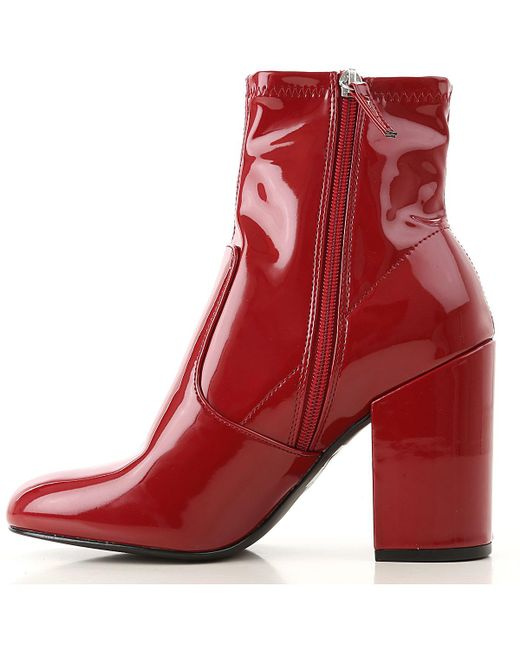 09d604b8846 Lyst - Steve Madden Gaze Women s Low Ankle Boots In Red in Red ...