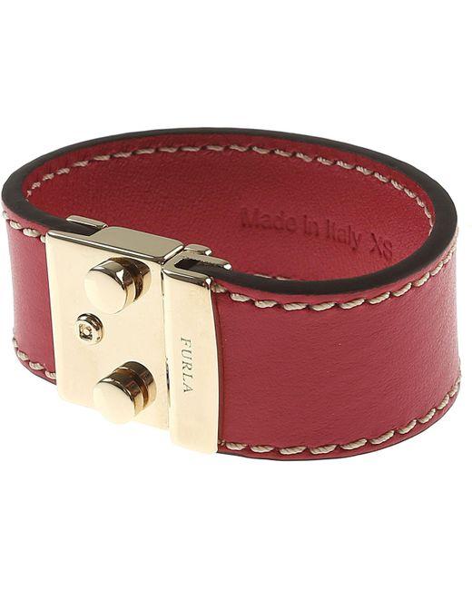 Furla - Red Bracelet For Women On Sale In Outlet - Lyst