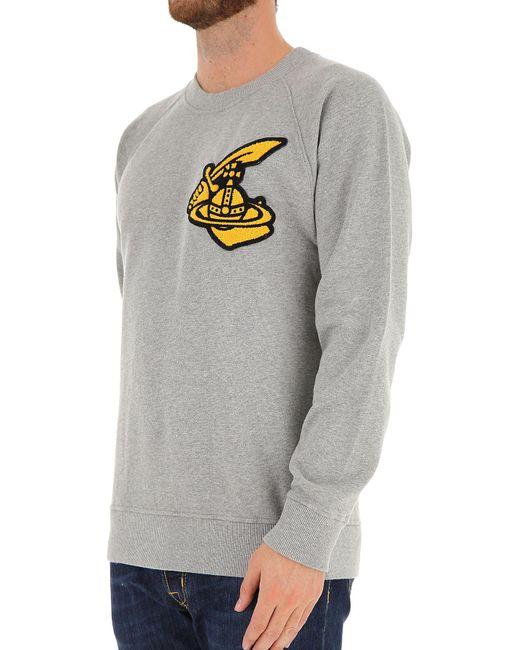 fb7d72e3c3713 ... Vivienne Westwood - Gray Sweatshirt For Men On Sale for Men - Lyst ...