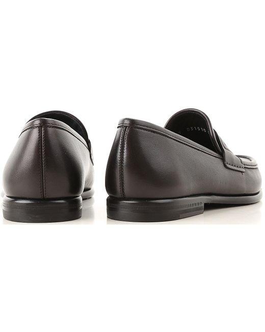 257e1c8ffac ... Ferragamo - Black Loafers For Men On Sale In Outlet for Men - Lyst ...