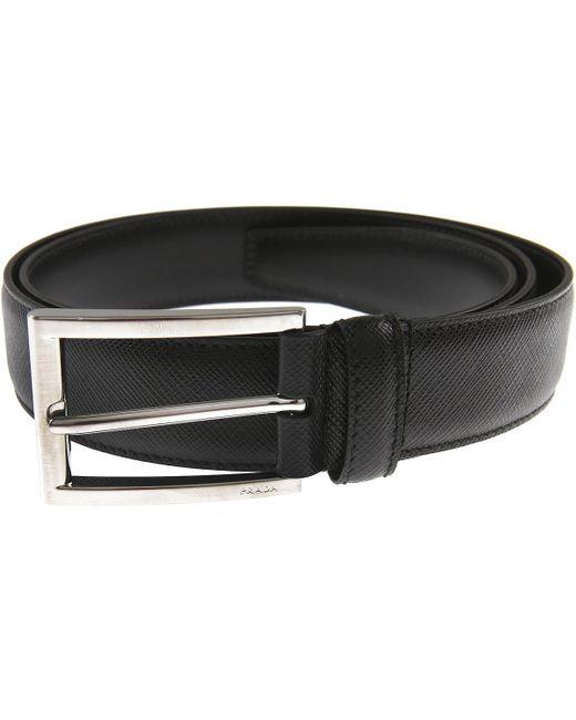 Prada - Black Belts For Men for Men - Lyst