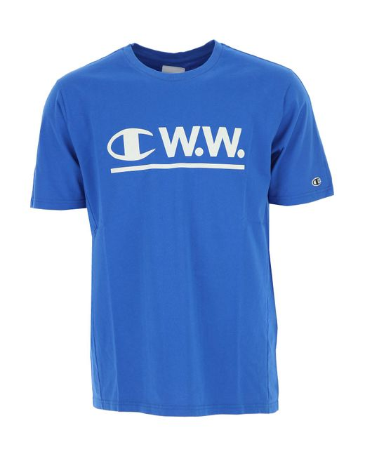 Champion - Blue T-shirt For Men On Sale for Men - Lyst
