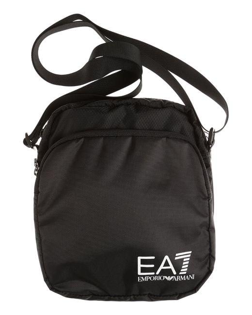 Emporio Armani - Black Messenger Bag For Men On Sale for Men - Lyst
