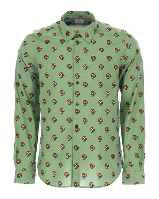 Paul Smith - Green Shirt For Men On Sale for Men - Lyst