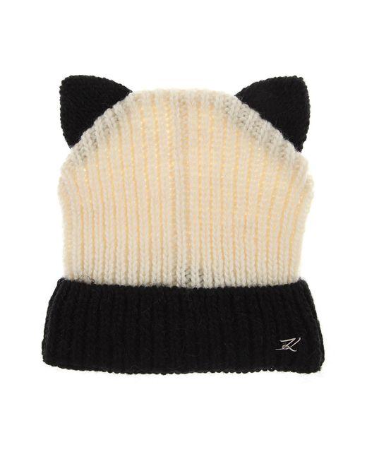 Lyst - Sombrero de Mujer Karl Lagerfeld de color Blanco 01a826fe9ff