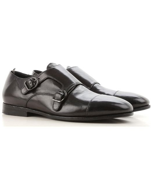 71cc5a5cd7 Officine Creative - Black Zapatos Monkstrap de Hebilla para Hombre Baratos  en Rebajas Outlet for Men ...