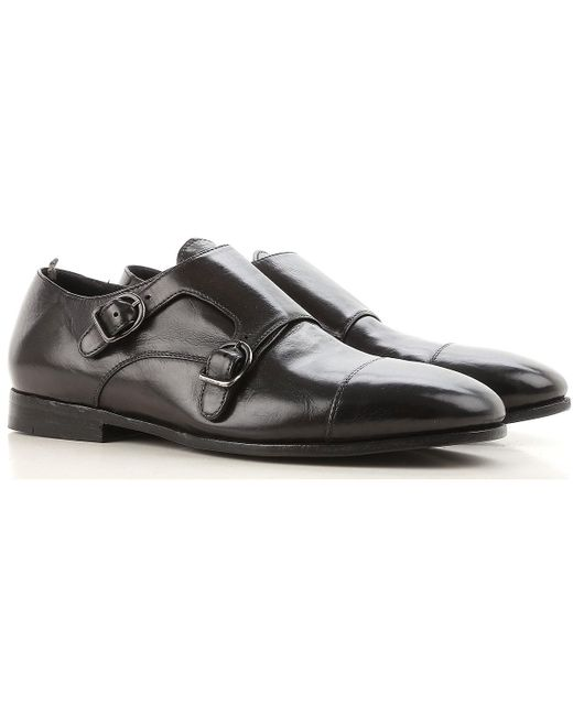 46564dc7e7 Officine Creative - Black Zapatos Monkstrap de Hebilla para Hombre Baratos  en Rebajas Outlet for Men ...