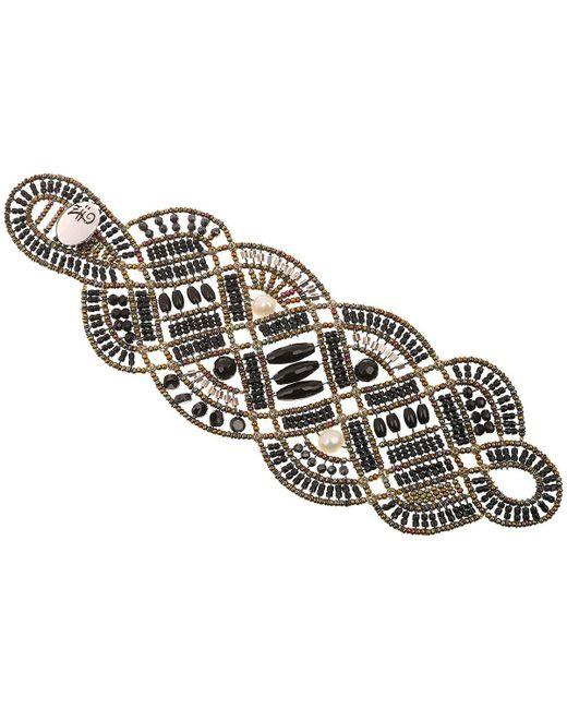 Ziio Jewellery - Black Bracelet For Women - Lyst