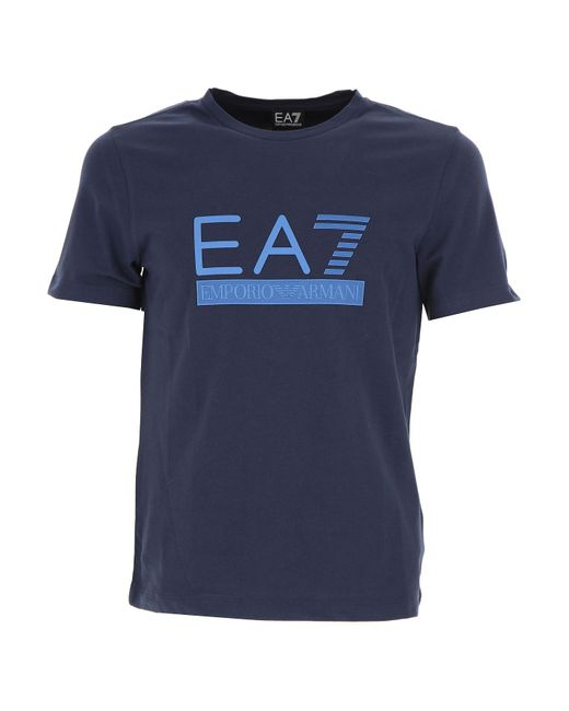 Emporio Armani - Blue T-shirt For Men On Sale In Outlet for Men - Lyst