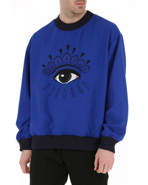 57a79db7b Lyst - KENZO Embroidered Eye Sweatshirt in Blue for Men - Save 29%
