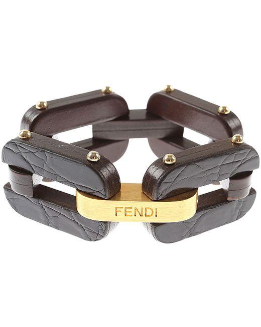 Fendi - Brown Bracelet For Women On Sale - Lyst