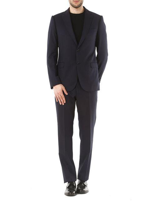 b683f783308d ... Emporio Armani - Blue Costume Homme Pas cher en Soldes for Men - Lyst  ...