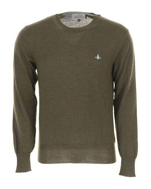 Vivienne Westwood - Green Sweater For Men Jumper On Sale for Men - Lyst