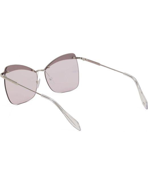 0f7f1fac04384 ... Alexander McQueen - Metallic Gafas y Lentes de Sol Baratos en Rebajas -  Lyst ...