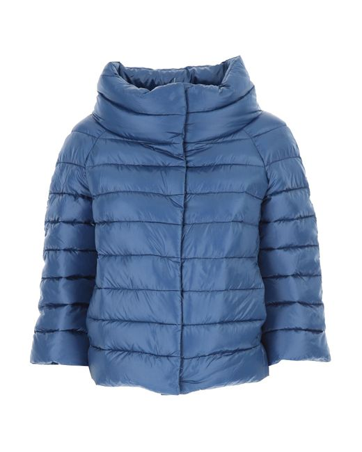 Herno Blue Down Jacket For Women