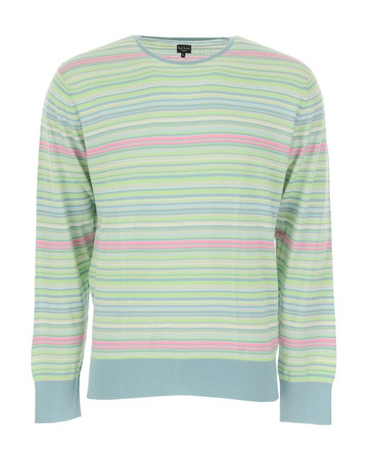 Paul Smith - Green Sweater For Men Jumper On Sale for Men - Lyst