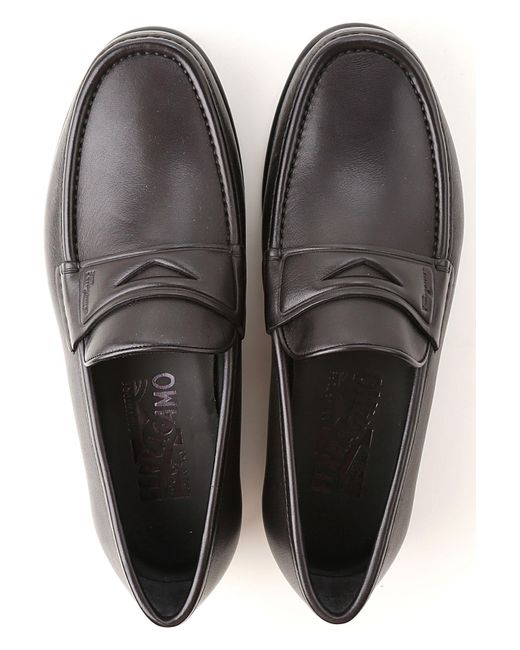 9091a7b7b94 Ferragamo Loafers For Men On Sale In Outlet in Black for Men - Save ...