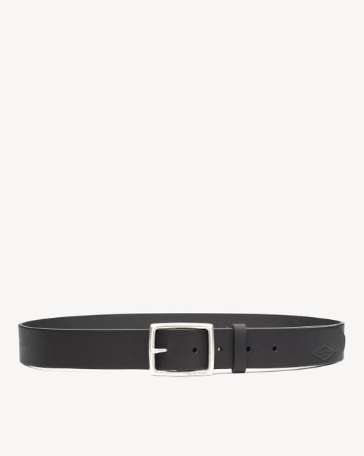 Rag & Bone - Black Rugged Belt Brass for Men - Lyst