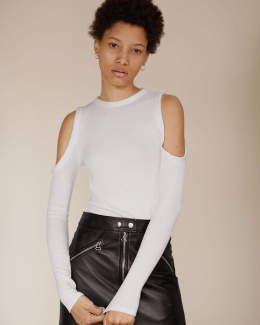Rag & Bone | White Gwen Cold Shoulder Long-sleeve | Lyst