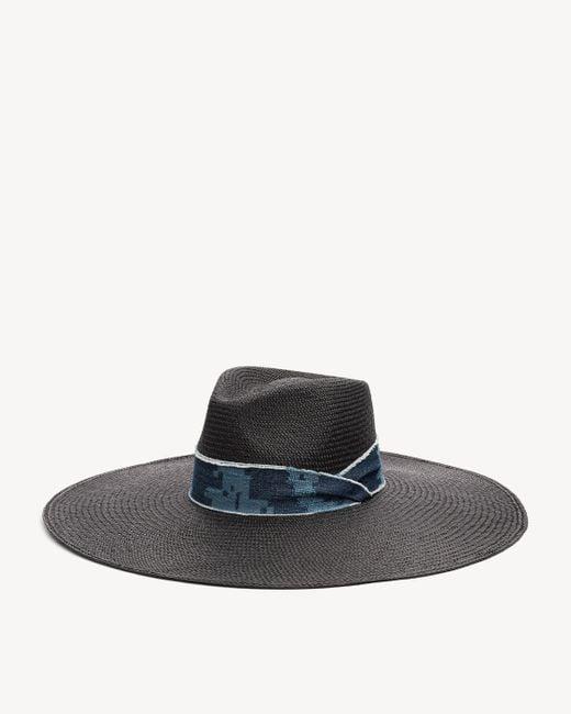 Rag & Bone   Black Wide Brim Panama Hat   Lyst