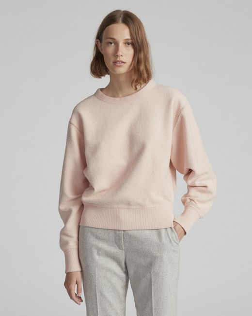 Rag & Bone - Pink Brushed Inside Out Terry Sweatshirt - Lyst