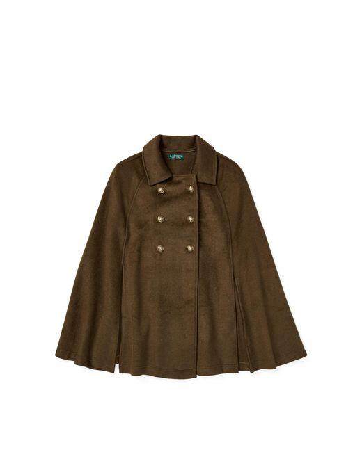 Ralph Lauren - Green Pleated Military Cape - Lyst