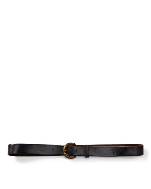 RRL - Brown Terrance Tumbled Leather Belt for Men - Lyst