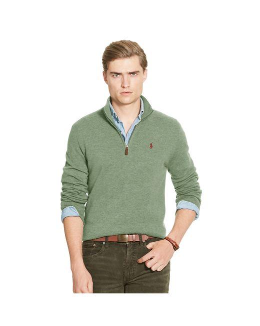 Polo Ralph Lauren   Green Merino Wool Half-zip Sweater for Men   Lyst