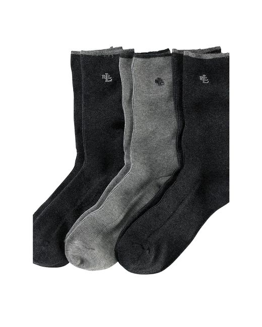 Ralph Lauren | Gray Ribbed Trouser Sock 3-pack | Lyst