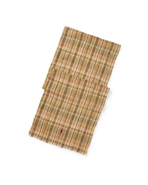 Polo Ralph Lauren | Multicolor Tartan Linen Scarf for Men | Lyst