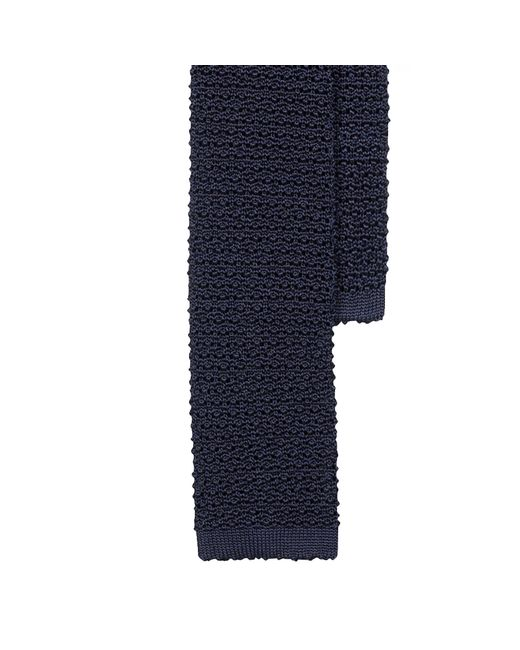 Polo Ralph Lauren | Blue Solid Knit Silk Tie for Men | Lyst