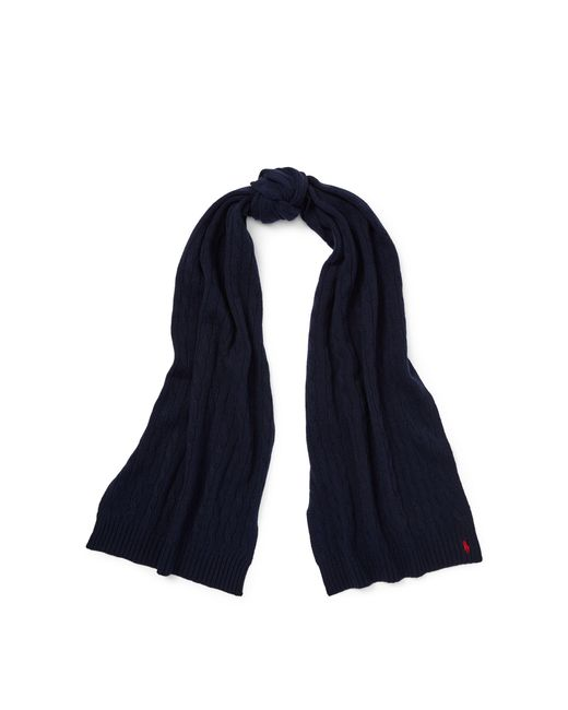 30098ab4242 Lyst - Polo Ralph Lauren Wool-cashmere Oblong Scarf in Blue - Save 36%