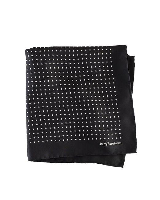 Polo Ralph Lauren | Black Polka-dot Silk Pocket Square for Men | Lyst