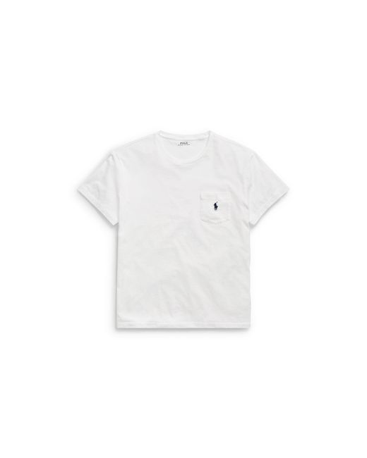 Polo Ralph Lauren - White Classic-fit Cotton Pocket Tee for Men - Lyst