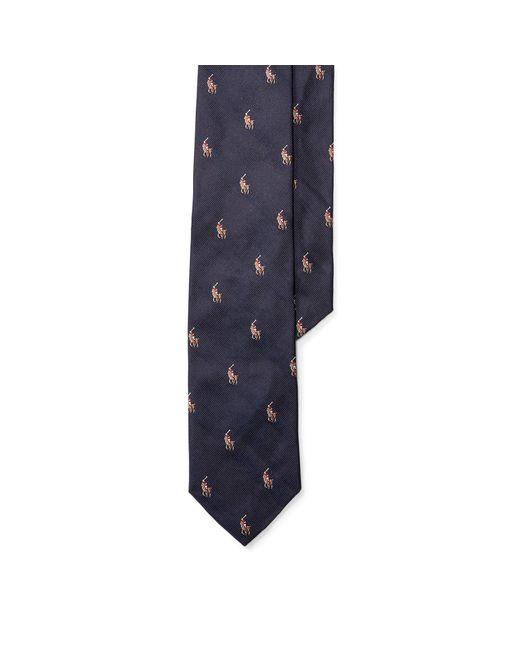 Polo Ralph Lauren - Blue Pony Silk Repp Tie for Men - Lyst