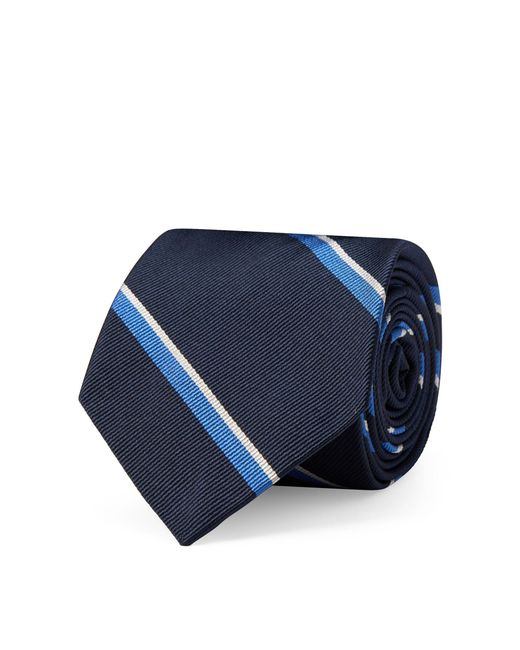 Polo Ralph Lauren - Blue Striped Silk Twill Narrow Tie for Men - Lyst