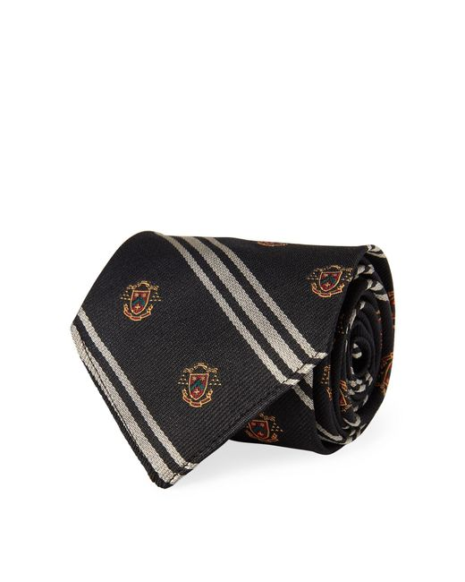Polo Ralph Lauren - Black Vintage-inspired Silk Tie for Men - Lyst