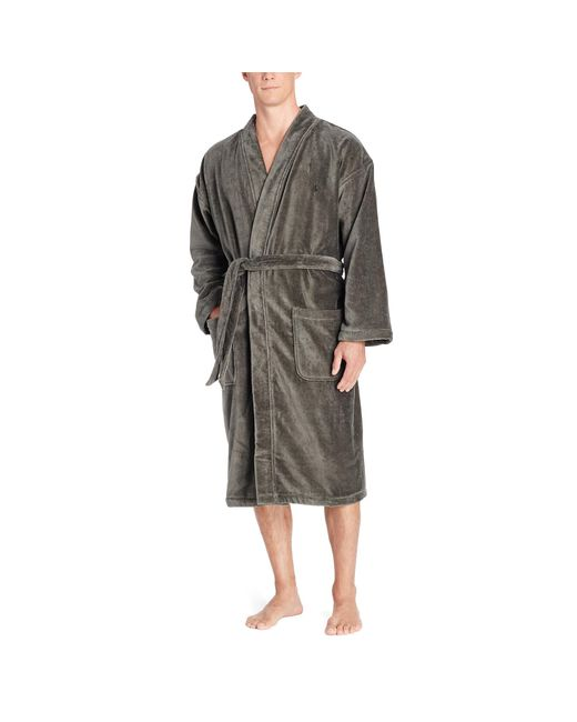 Polo Ralph Lauren | Black Terry Kimono Robe for Men | Lyst