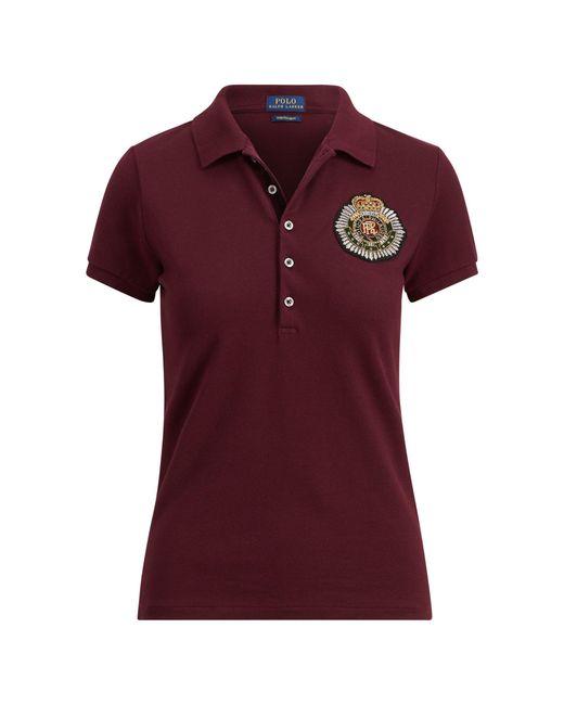 Polo Ralph Lauren | Red Slim Fit Bullion Crest Polo | Lyst