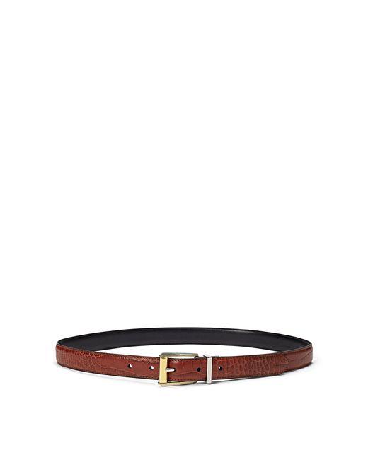Ralph Lauren - Black Reversible Croc-embossed Belt - Lyst