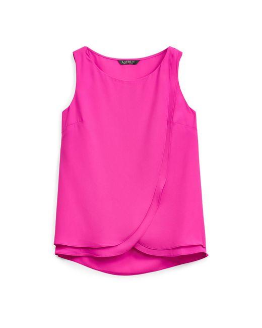 Ralph Lauren - Pink Sleeveless Georgette Shirt - Lyst
