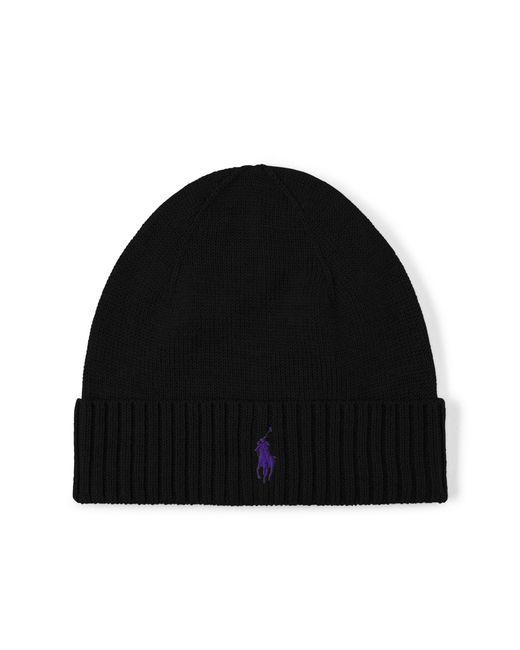 Polo Ralph Lauren | Black Merino Wool Hat for Men | Lyst