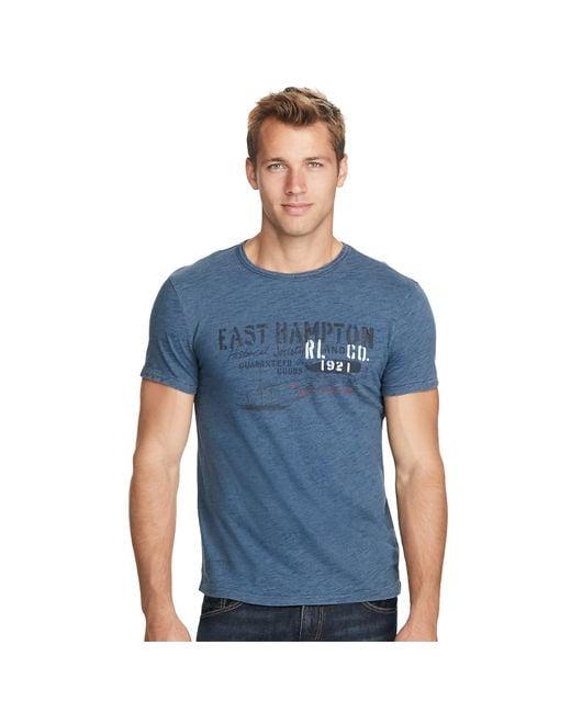 Polo Ralph Lauren | Blue Custom East Hampton T-shirt for Men | Lyst